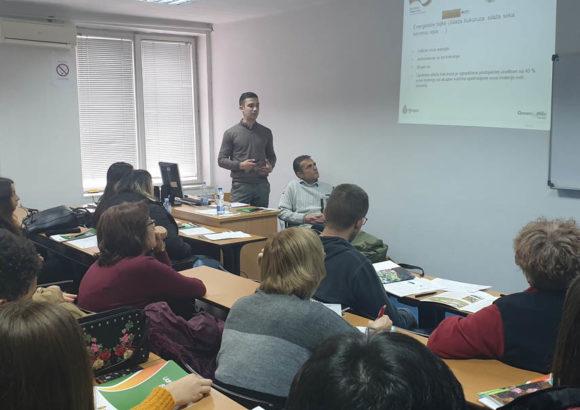 Predavanje na Univerzitetu Singidunum